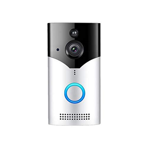 Fontsime ホームワイヤレスWifiビジュアルキャットアイドアベルligent音声インターホンビデオ赤外線盗難防止監視ドアベル