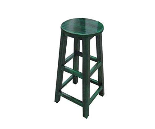 Tabouret en bois Tabouret de bar haut tabouret de bar en bois massif pur Tabouret de bar tabouret de bar tabouret rouge/assis haut 90 (Couleur : #3, taille : 90cm)