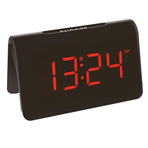 TFA Dostmann Icon 60.2543.05 - Reloj Despertador Digital (radiocontrol, plástico, 140 x 120 x 120 mm), Color Negro