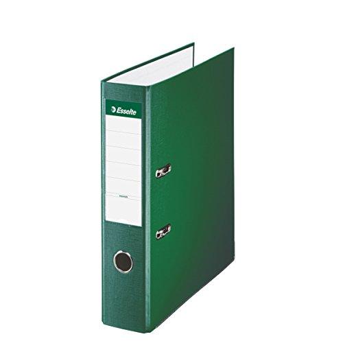 Esselte 42302, Archivador de Palanca de PP de Plástico Forrado, Verde, Anchura lomo: 75 mm 🔥