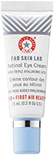 FAB Skin Lab Retinol Eye Cream 0.5 Fl. Oz! Rejuvenating Eye Cream with Triple Hyaluronic Acid! Helps To Reduce Fine Lines And Wrinkles! Anti Aging Cream For Smoother, Firmer & Youthful Skin!