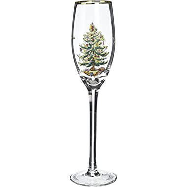 Spode Christmas Tree Champagne Flutes (Set of 4)