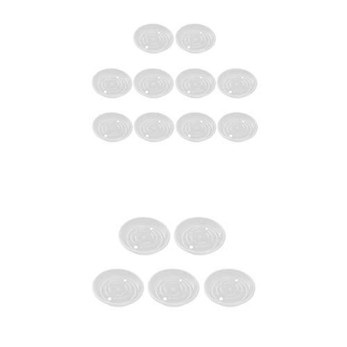 prasku 2 Juegos De 15 Piezas, 5.9'y 9.8', Platillo Transparente Para Maceta, Bandejas De Agua Para Goteo,