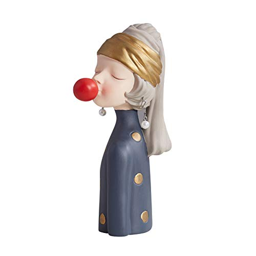 Floepx Figuras modernas de burbujas de resina, decoración del hogar, cumpleaños, boda, regalo, hada, niña, estatua 3D, para casa, mesa de escritorio, decoración