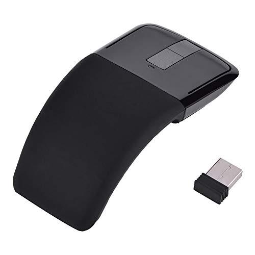 CCYLEZ Ratón táctil ARC Touch inalámbrico Plegable, Ratón óptico inalámbrico Plegable USB, Ratón Plegable Universal portátil para PC/Notebook/Smart TV(Negro)