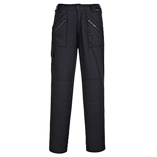 Portwest S687BKRL, Pantaloni da lavoro, Donna, Large, Nero