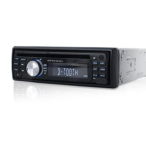 MAXWIN(マックスウィン) DVDプレーヤー 車載 1DIN オーディオ デッキ DVD CD Bluetooth MP3 録音 音楽 ラジオ チューナー AUX 外部入力 USB 12V 24V 対応 DVD307
