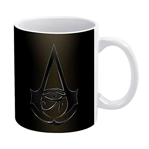 Assassins Creed Taza de café de cerámica, 325 ml con asa para té, cacao, zumo, regalo, taza de café de cerámica para oficina y hogar