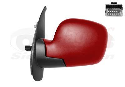 Retrovisor eléctrico izquierdo rojo para Renault Kangoo 08 hasta 13