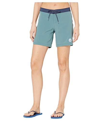 Roxy Bañador de mujer para teñido de 7 pulgadas. - azul - Small