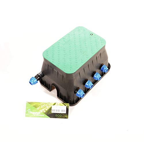 Ventilbox ECO - 4 x Hunter PGV-100-MM Magnetventil (4 Zonen), mit 25 mm Anschlüssen für 3/4