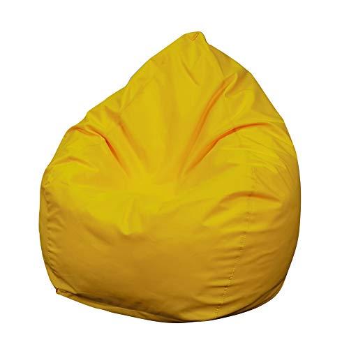 Funda Puff Pera SIN Relleno Funda Puf Grande para Sofá Perezoso Cubierta de Oxford para Sillón Silla Tumbona Bolsa de Frijol Bean Bag para Adultos Accesorio de Hogar (Amarillo, 90 * 115cm)