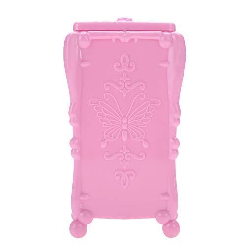 Organizador portátil de toallitas para decoración de uñas, caja de almacenamiento de algodón para toallitas duraderas de fácil acceso, calidad confiable para(Pink)
