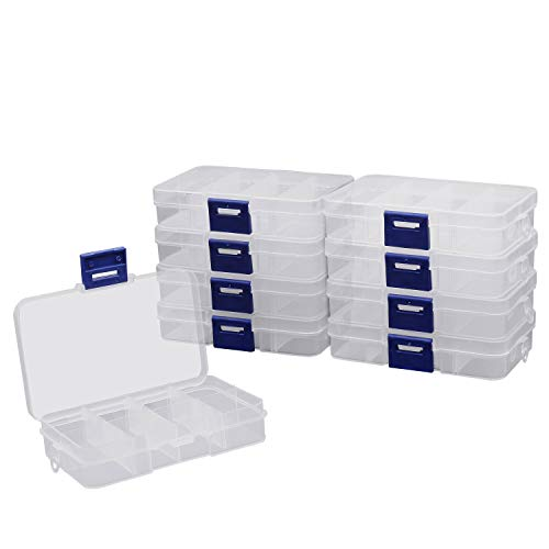 Caja de plastico con 5 compartimentos organizador caja de almacenaje joyas