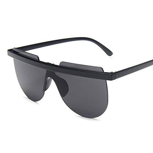 YIERJIU Sonnenbrillen Frauen Übergroßen Randlose Sonnenbrille Retro Vintage Coole One Piece Sonnenbrille Straße Snap Brillen Uv400,C1