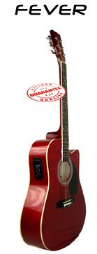 Fever Acoustic Electric Guitar Red SL-700CER