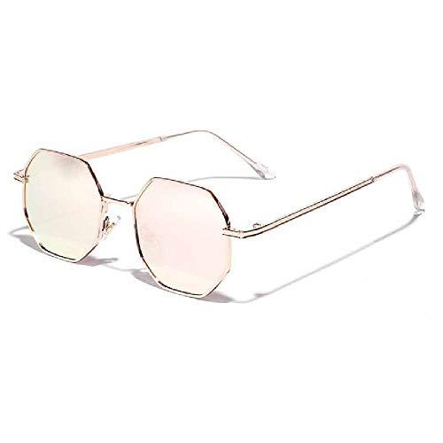 U/A 2 Pcs Gafas De Sol Pequeñas Poligonales Para Mujer, Gafas De Sol De Metal Redondas Retro Para Hombre, Anteojos Hexagonales UV400