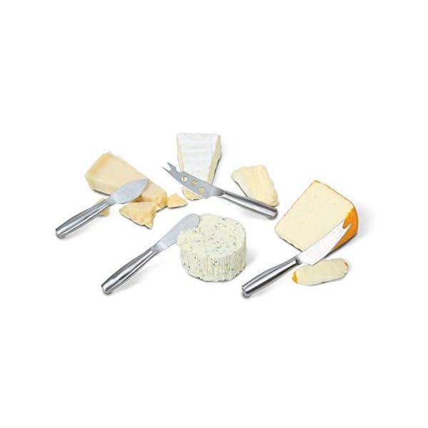 Boska Juego de cuchillos para queso Mini Copenhagen - 4 cuchillos pequeños - Para cada tipo de queso - Acero inoxidable…