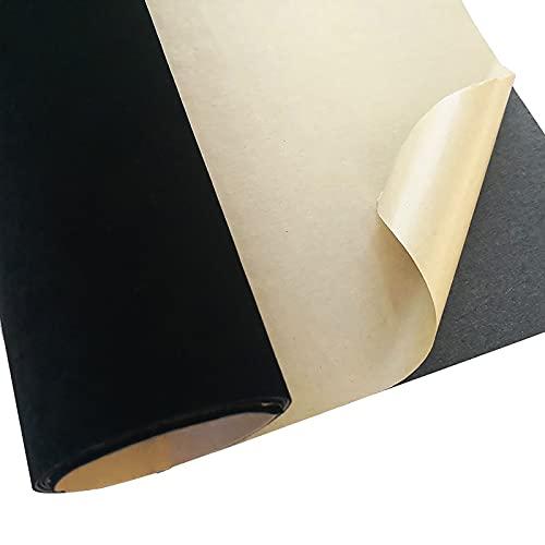 Lanpangzi Tela Flocada Trasera Autoadhesiva, Forro Estante Fieltro Autoadhesivo Forro Estante Terciopelo Flocado para Joyería Cajón Artesanal Cajón Suave DIY(Size:1.5m*0.5m,Color:0.8mm Thick)
