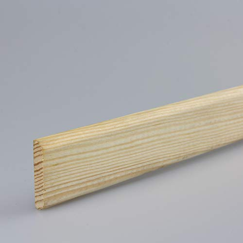 Tapetenleiste Abdeckleiste Wandschutzleiste Holz-Bordüre Bastelleiste Flachprofil aus Kiefer-Massivholz 2100 x 6 x 30 mm