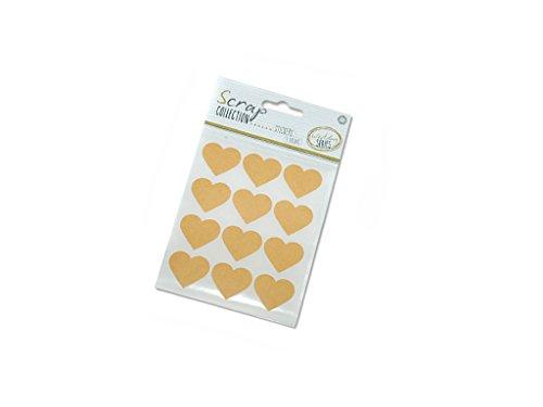 Scrap Collection Wedding Series Hojas de Stickers Diseño Corazón, Papel, Craft, 11x16.5x0.5 cm, 3 Unidades