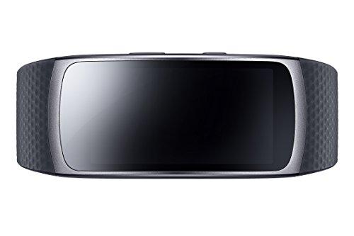 """SAMSUNG Gear Fit2 Smartwatch, Display 1.5"""" SAMOLED, Memoria Interna 4 GB, 200 mAh, Taglia L, Nero"""