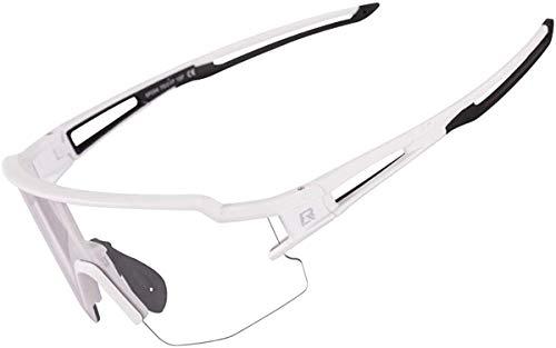 ROCKBROS Occhiali da Sole Ciclismo Sportivi PC Lenti Trasparenti Fotocromatiche UV400 Ultraleggero Unisex 3 Colori Disponibil