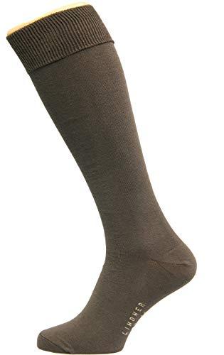 Max Lindner Hochwertige Kniestrümpfe Socken Qualität seit 1921 (42-44, braun)