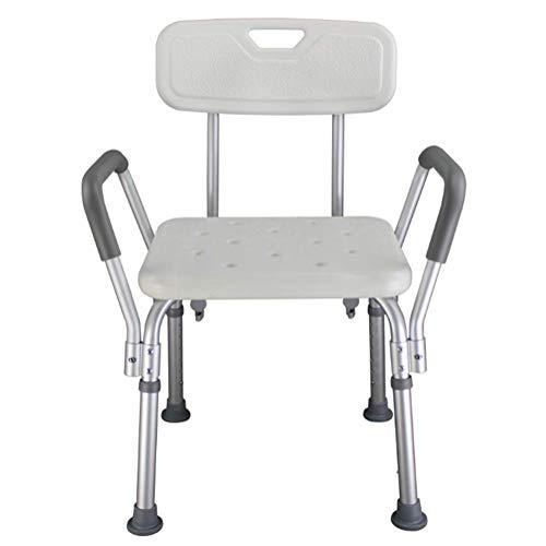 No-Back Badstuhl Mit Armlehnen Aluminium Badewanne Für Ältere Personen Schwangere Frauen Dusche Anti-Rutsch-Stuhl