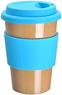 ERTONGHUANBAOCANJU With Lid Office Creative Cup Blue Environmental Friendly Mug Insulated (Color : Blue)