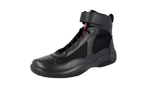 Prada Men's America's Cup High Top Sneaker, Black (Nero) (11 US / 10 UK)