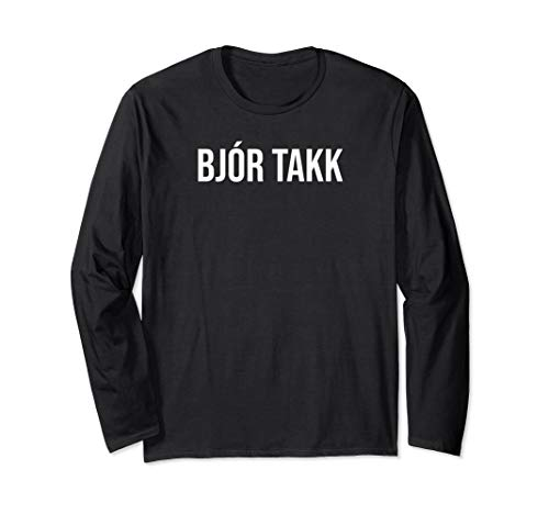 (Ein) Bier bitte auf Isländisch Island Bier Langarmshirt