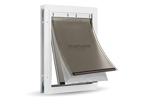 PetSafe Extreme Weather Dog and Cat Door - Aluminum Frame Pet Door - Medium