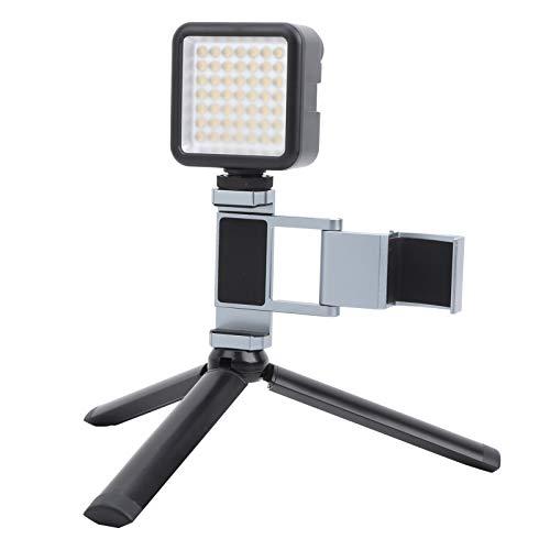 Kit de trípode de luz de Relleno, 5W 6000K, luz de Relleno para teléfono móvil, Soporte de extensión de trípode de Escritorio, Accesorio de Soporte para fotografía de Video, para OSMO Pocket 1/2