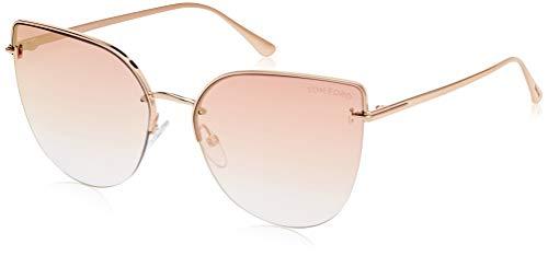 Tom Ford FT0652 33Z Gold FT0652 Cats Eyes Sunglasses Lens Category 2 Lens Mirro