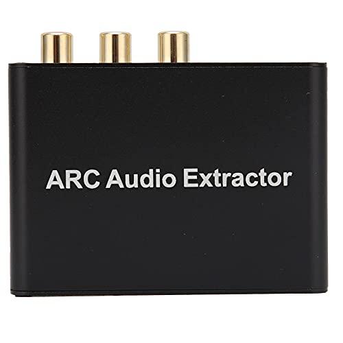 PUSOKEI Adaptador ARC a Audio, Adaptador de Canal de Retorno de Audio HDMI, Convertidor de Audio ARC para HDMI, Admite Salida de Puertos múltiples, con función de Silencio, para TV