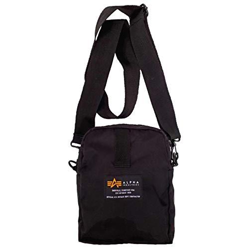 Alpha Industries Crew Carry Bag 196924 Nylon Schultertasche, Farbe:black