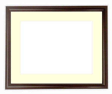 写真用額縁 713/タメツヤ有り A3(420×297mm) ガラス マット付 マット色:黒
