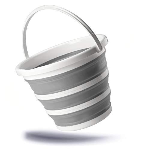 Kerafactum Cubo Plegable de 10 litros, Cubo Plegable en Calidad Profesional de...