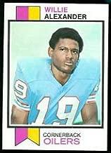 1973 Topps Regular (Football) card#253 Willie Alexander of the Houston Oilers Grade Very Good