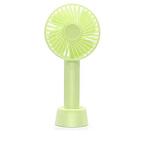 VNFWLDM Mini Ventilador De Mano, Ventilador De Escritorio USB, Ventilador De Mesa Portátil Personal Pequeño con Ventilador Eléctrico De Enfriamiento De Refrigeración De La Batería Recargable,Verde
