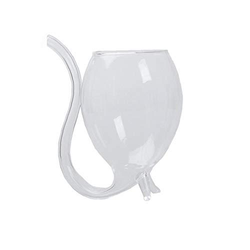 Taza De La Copa 1pc Copa De Vino Creativo Vino Whisky De Cristal del Tubo De Succión con La Paja De Beber De La Decoración del Hogar Partido Publicación 300ml / 10,6 Oz