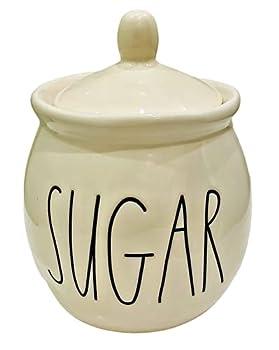 Rae Dunn SUGAR Jar - ceramic - dishwasher safe!