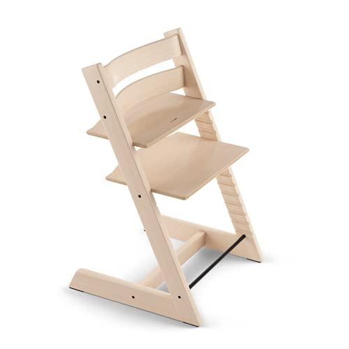 TRIPP TRAPP® Silla evolutiva de madera | Silla de altura regulable perfecta para bebés, niños y adultos | Tipo de madera: Beech | Colour: Natural