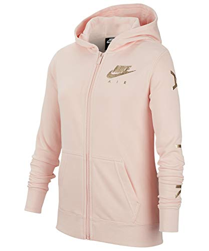 Nike G Nsw Nike Air Flc Fz - echo pink/metallic gold, Größe:XL