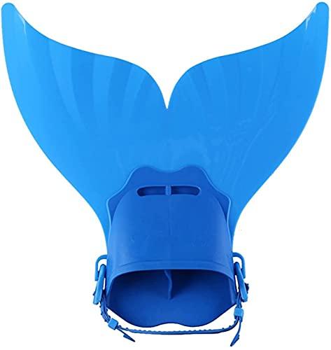 XBSXP Aletas de Entrenamiento de natación Aletas Aletas de Cola de Ballena de una Sola Pieza Aletas para niños Aletas de Entrenamiento de natación Aletas (Color: Azul)