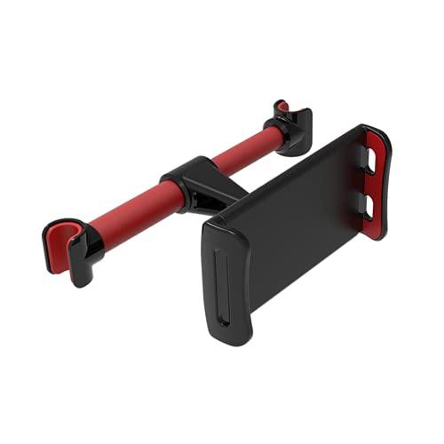 """Homeet Soporte Tablet Coche Soporte para Reposacabezas Sporte del Asiento Trasero Soporte Base Ajustable 360° Silicona Antideslizante para 4""""~11"""" Pulgada Tablets Smartphones Ipads E-Reader【Rojo】"""