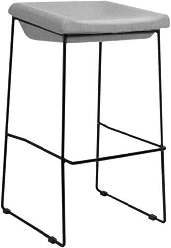 DHFDHD Taburete de Bar Sillas encimera de la Cocina Barra de Desayuno con Respaldo for la Cocina/Pub Legs Bar taburetes de Metal | Amortiguador de la Tela | con reposapiés | Carga máxima de 150 kg t