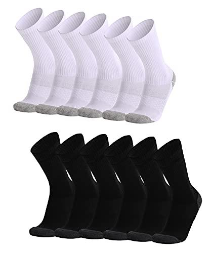 Womens Trainer socks 3/6 Pairs Sport Walking Socks Calf Wicking Socks...