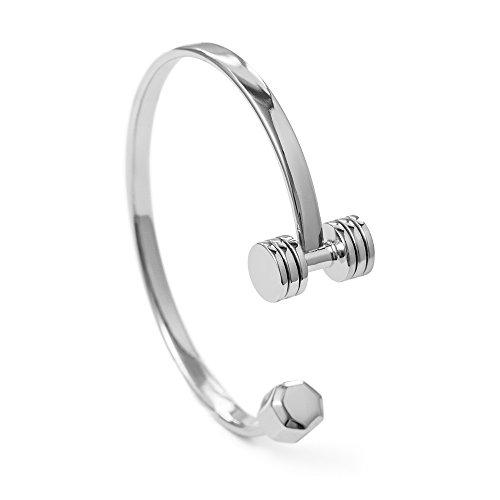 Fit Selection Hantel-Armband aus Sterlingsilber, Fitness-Schmuck, Fitness-Geschenk, Fitness-Armband, Fitness-Armband